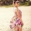 ชุดว่ายน้ำทูพีช พื้นชมพู ลายดอกไม้สีหวาน เซ็ตสามชิ้น เสื้อช้ันใน + กางเกง และ ชุดเดรสลายดอกไม้ สม๊อคช่วงอก แบบน่ารักมากๆ thumbnail 10