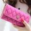 กระเป๋าสตางค์แฟชั่น YADAS พร้อมส่ง สีชมพู ด้านในสีชมพูอ่อน ใบยาว DESIGN สุดเก๋ ลายตาราง ปิดเปิดด้วยกระดุมแป๊กเก๋ๆ สวยหรู thumbnail 1