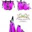 YM Handbags Korean Version Cartoon portable (Shipping 3 in 1/Set) กระเป๋าสำหรับผู้หญิง - Pink thumbnail 2
