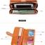 กระเป๋าสตางค์แฟชั่น พร้อมส่ง สีน้ำตาล หนัง PU ใบยาว แต่งสายคาดด้วยกระดุมแป๊กเก๋ๆ มีช่องในนามบัตรหลายช่อง น่าใช้มากๆเลยค่ะ thumbnail 4