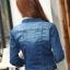 เสื้อยีนส์ พร้อมส่ง สียีนส์เข้ม ฟอกสีสวย คอปก ดีเทลสุดเท่ห์ แฟชั่นมาใหม่สไตล์เกาหลี thumbnail 4