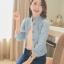 เสื้อแจ็กเก็ตยีนส์ พร้อมส่ง สไตล์เกาหลี หัวไหล่พองๆ นิดๆ น่ารักๆ สินค้าตัวจริงสวยมาก thumbnail 1