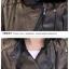 เสื้อแจ็คเก็ต เสื้อหนังแฟชั่น พร้อมส่ง สีดำ หนังด้าน คอจีน แต่งคอปกเก๋ ดีเทลซิบรูดช่วงเอว สุดเท่ห์ thumbnail 10