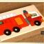 Uncle Wood - 2 layer Jigsaw Puzzle 'Fire Truck' ตัวต่อจิ๊กซอว์ไม้-รถดับเพลิง thumbnail 6