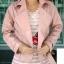 เสื้อแจ็คเก็ต เสื้อหนังแฟชั่น พร้อมส่ง สีชมพูอ่อน แบบเท่ห์ๆ อินเทรนด์ สไตล์เกาหลี thumbnail 2