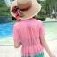 เสื้อคลุมแฟชั่น พร้อมส่ง สีชมพู แขนสั้น ดีเทลระบายเป็นชั้นๆ สุดแสนจะน่ารัก เนื้อผ้านิ่มมากๆ ใส่สบาย thumbnail 4