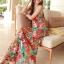 MAXI DRESS ชุดเดรสยาว พร้อมส่ง สีโทนส้ม สายคล้องคอ แต่งลวดลายดอกไม้สีสันสดใส ชุดใส่ไปเที่ยวทะเล หรือปาร์ตี้ริมทะเลได้ค่ะ โดดเด่น ไม่ซ้ำใคร thumbnail 5