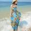 MAXI DRESS ชุดเดรสยาว พร้อมส่ง สีโทนฟ้า ผ้าชีฟอง เนื้อนิ่ม ใส่สบาย พิมพ์ลายดอกไม้สวยมากๆค่ะ thumbnail 4