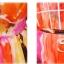 MAXI DRESS ชุดเดรสยาว พร้อมส่ง สีโทนส้ม ผ้าชีฟอง เนื้อดี ใส่สบาย มีซับใน พิมพ์ลายดอกไม้สีเหลืองสลับสีส้ม สีสันสดใส สายเดี่ยวเซ็กซี่ thumbnail 5