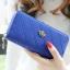กระเป๋าสตางค์แฟชั่น YADAS พร้อมส่ง สีน้ำเงิน ด้านในสีน้ำเงิน ใบยาว DESIGN สุดเก๋ ลายตาราง ปิดเปิดด้วยซิบรูด สวยหรู thumbnail 2