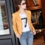 เสื้อแจ็คเก็ต เสื้อหนังแฟชั่น พร้อมส่ง สีเหลือง หนังด้าน มาดเซอร์ คอจีน ดีเทลด้วยปกโฉบเฉี่ยว สุดเท่ห์ thumbnail 3