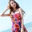 Maxi dress ชุดเดรสยาว พร้อมส่ง สีพื้นน้ำเงินลายดอกไม้สีสันสดใส สวยมากๆค่ะ เนื้อผ้า ice silk อย่างดี ใส่สบาย เนื้อผ้ามีความยืดหยุ่นได้ดีค่ะ thumbnail 8