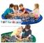 Portable Play Mat and Toy Storage Bag - Blue ถุงเก็บของเล่น ถุงเก็บLego thumbnail 3