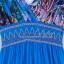 MAXI DRESS ชุดเดรสยาว พร้อมส่ง สีน้ำเงิน คอวีลึก แขนกุด แต่งย่นๆช่วงหัวไหล่ ลายดอกไม้สีสัน สม๊อคช่วงเอว สวยมากๆค่ะ thumbnail 7