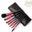แปรงแต่งหน้า ชุด เซ็ท แปรงแต่งหน้า คุณภาพดี Set /7 ชิ้น - สีดำแดง CerroQreen Makeup Brush Sets thumbnail 1
