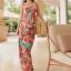 MAXI DRESS ชุดเดรสยาว พร้อมส่ง สีโทนส้ม สายคล้องคอ แต่งลวดลายดอกไม้สีสันสดใส ชุดใส่ไปเที่ยวทะเล หรือปาร์ตี้ริมทะเลได้ค่ะ โดดเด่น ไม่ซ้ำใคร thumbnail 6