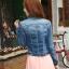 เสื้อยีนส์ พร้อมส่ง สียีนส์เข้ม สีสวย คอจีน ดีเทลสุดเท่ห์ แฟชั่นมาใหม่สไตล์เกาหลี thumbnail 5