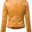 เสื้อแจ็คเก็ต เสื้อหนังแฟชั่น พร้อมส่ง สีเหลือง คุณภาพดีมาก งาน Premium Quality สินค้าสวยหนังดี thumbnail 2
