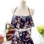 ชุดว่ายน้ำทูพีช สีกรม สายคล้องคอ ดีเทลลายผีเสื้อ และ ดอกไม้สีหวาน กระโปรงแต่งระบายน่ารัก มากๆค่ะ thumbnail 12