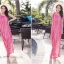 MAXI DRESS ชุดเดรสยาว พร้อมส่ง สีชมพู ลายทางสลับสีสวยมากๆ สินค้าจริงงานเหมือนแบบเลยค่ะ thumbnail 3