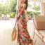 MAXI DRESS ชุดเดรสยาว พร้อมส่ง สีโทนส้ม สายคล้องคอ แต่งลวดลายดอกไม้สีสันสดใส ชุดใส่ไปเที่ยวทะเล หรือปาร์ตี้ริมทะเลได้ค่ะ โดดเด่น ไม่ซ้ำใคร thumbnail 2