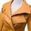 เสื้อแจ็คเก็ต เสื้อหนังแฟชั่น พร้อมส่ง สีเหลือง คุณภาพดีมาก งาน Premium Quality สินค้าสวยหนังดี thumbnail 3
