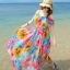 MAXI DRESS ชุดเดรสยาว พร้อมส่ง สีโทนฟ้า ผ้าชีฟอง เนื้อดี ใส่สบาย มีซับใน พิมพ์ลายดอกไม้สีชมพูสลับสีส้ม สีสันสดใส สายเดี่ยวเซ็กซี่ รับรองสินค้าจริงเหมือนแบบ 100 % thumbnail 3