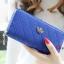 กระเป๋าสตางค์แฟชั่น YADAS พร้อมส่ง สีน้ำเงิน ด้านในสีน้ำเงิน ใบยาว DESIGN สุดเก๋ ลายตาราง ปิดเปิดด้วยซิบรูด สวยหรู thumbnail 1