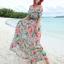 MAXI DRESS ชุดเดรสยาว พร้อมส่ง พื้นสีฟ้า ลายดอกไม้ สีโทนชมพู สวยมาก ดีเทลระบายเป็นชั้น thumbnail 4