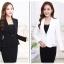 เสื้อสูทแฟชั่น เสื้อสูททำงาน เสื้อสูทสำหรับผู้หญิง พร้อมส่ง สีดำ คอปก แขนยาว สินค้าจริง งานสวยเหมือนแบบเลยค่ะ thumbnail 5