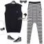 CC Stripy Knit Set by Seoul Secret thumbnail 1