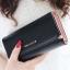 กระเป๋าสตางค์ YADAS พร้อมส่ง สีดำ ทรงเรียบหรู ใบยาว DESIGN สุดเก๋ ไฮโซมากๆ thumbnail 1