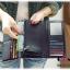 กระเป๋าสตางค์ C1 SHOP พร้อมส่ง สีเปลือกมังคุด หนัง PU ใบยาว แต่งปักมุดเก๋ สวยสะดุดตา ดีไซน์เปิด-ปิด ด้วย กระดุมแป๊ก ใช้งานง่าย thumbnail 4