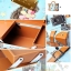 GIKIM Mladic handmade beauty case vintage (Limited Edition)กระเป๋าใส่เครื่องสำอางค์ - สีฟ้า thumbnail 3