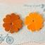 ดอกไม้หนังแท้ 35มิล (100ดอก)