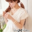 Lady Ribbon's Made Lace V Collar Korea blouse thumbnail 2
