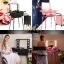 กระเป๋ารถเข็น โต๊ะเครื่องแป้ง กล่องเก็บเครื่องสำอาง Professional major beauty case boxes stand - Black thumbnail 3