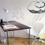 White Board Sticker 90x200cm Whiteboard Wall Sticker Dry Erase Self Adhesive Kids Room thumbnail 6