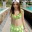 ชุดว่ายน้ำทูพีช สีเขียวสดใส ยกทรงแต่งระบาย ดีเทลกระโปรงระบายเป็นชั้นๆ สีสันสดใส น่ารักมากๆ thumbnail 2