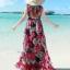 MAXI DRESS ชุดเดรสยาว พร้อมส่ง พื้นสีดำ ผ้าชีฟอง ลายดอกไม้สีโทนแดงทั้งชุด คอวี จั้มช่วงหน้าอก ชายกระโปรงมีสองชั้น สวย thumbnail 2