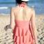 ชุดว่ายน้ำวันพีช สี WATERMELON RED สายคล้องคอ ดีเทลช่วงหน้าอกด้วยลายดอกไม้ หวานๆ แต่งระบายเป็นชั้นๆ น่ารัก สุดๆ thumbnail 3