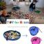 Portable Play Mat and Toy Storage Bag - Blue ถุงเก็บของเล่น ถุงเก็บLego thumbnail 5