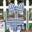 ชุดว่ายน้ำทูพีช สีน้ำเงิน ลายทางสลับสีขาว น่ารัก แต่งกระโปรงระบาย ดีเทลโบว์น่ารัก thumbnail 9
