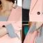 เสื้อสูทแฟชั่น เสื้อสูททำงาน เสื้อสูทผู้หญิง พร้อมส่ง เสื้อสูทสีชมพูหวานๆ เนื้อผ้าโพลีเอสเตอร์ คอตตอน 100 % คุณภาพดี คัตติ้งสวย งานเนี๊ยบ thumbnail 5