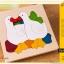 Uncle Wood - 3 layer Jigsaw Puzzle 'Duck Family' ตัวต่อจิ๊กซอว์ไม้-ครอบครัวเป็ด thumbnail 5