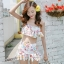 ชุดว่ายน้ำทูพีช สีเบจ สายคล้องคอ ดีเทลลายผีเสื้อ และ ดอกไม้สีหวาน กระโปรงแต่งระบายน่ารัก มากๆค่ะ thumbnail 5
