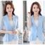 เสื้อสูทแฟชั่น เสื้อสูทสำหรับผู้หญิง พร้อมส่ง สีฟ้า ผ้าคอตตอน 100 % เนื้อดี คุณภาพงานพรีเมี่ยม งานตัดเย็บเนี๊ยบ thumbnail 3