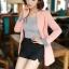 เสื้อสูทแฟชั่น เสื้อสูททำงาน เสื้อสูทผู้หญิง พร้อมส่ง เสื้อสูทสีชมพูหวานๆ เนื้อผ้าโพลีเอสเตอร์ คอตตอน 100 % คุณภาพดี คัตติ้งสวย งานเนี๊ยบ thumbnail 3