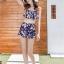 ชุดว่ายน้ำทูพีช สีกรม สายคล้องคอ ดีเทลลายผีเสื้อ และ ดอกไม้สีหวาน กระโปรงแต่งระบายน่ารัก มากๆค่ะ thumbnail 5