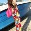 Maxi dress ชุดเดรสยาว พร้อมส่ง สีสันสดใสสะดุดตา ลายสี่เหลี่ยมมิติ เนื้อผ้า ice silk อย่างดี ใส่สบาย เนื้อผ้ามีความยืดหยุ่นได้ดีค่ะ thumbnail 6